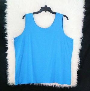 Cj banks Blue Sleeveless Tank top Size 3X